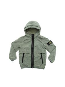 Stone Island Junior - Army green jacket with logo patch