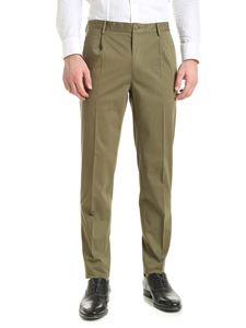 Incotex - Cotton pants in Army green