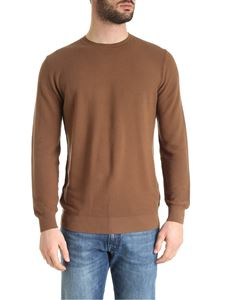 Kangra Cashmere - Pullover in cotone color tabacco