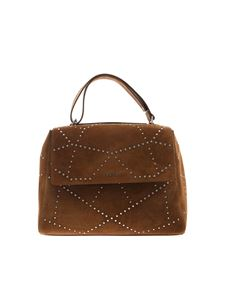 Orciani - Sveva Media brown bag with studs