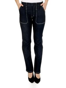 Chloé - Jeans in denim blu scuro