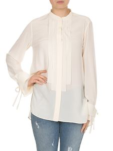 Chloé - Shirt with pleated cuffs in cream color