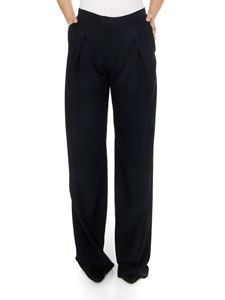 Chloé - Silk trousers in anthracite blue color
