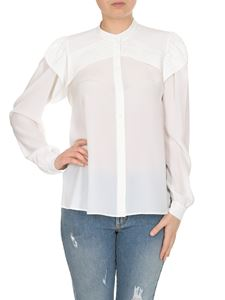 Chloé - Shirt in white with front flounces