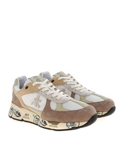 Premiata - Mase suede sneakers in beige and white