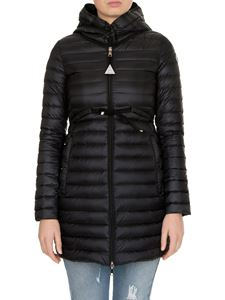 Moncler - Barbel Long down jacket in black with drawstring
