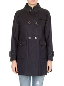 Herno - Trench coat in blue with hook on the neck