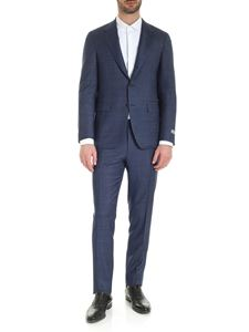 Canali - 3-roll-suit in blue melange