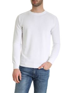 Kangra Cashmere - Pullover in cotone bianco