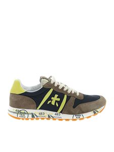 Premiata - Eric sneakers in blue and mud color