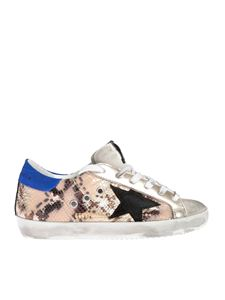 Golden Goose - Sneakers Superstar Python stella nera