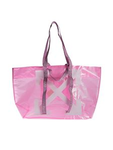 Off-White - Arrows Tote in pink and white