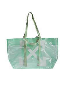 Off-White - Arrows Tote in light green and white