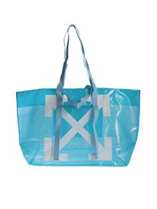 Off-White - Arrows Tote in baby blue and white