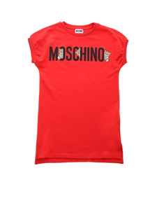 Moschino Kids - Teddy Logo dress in red
