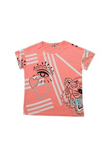 Kenzo - Cali Party multi-icona T-shirt in pink