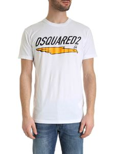 Dsquared2 - Contrasting logo print T-shirt in white