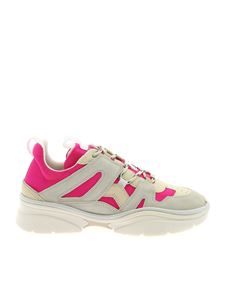 Isabel Marant - Kindsay sneakers in ecru and fuchsia