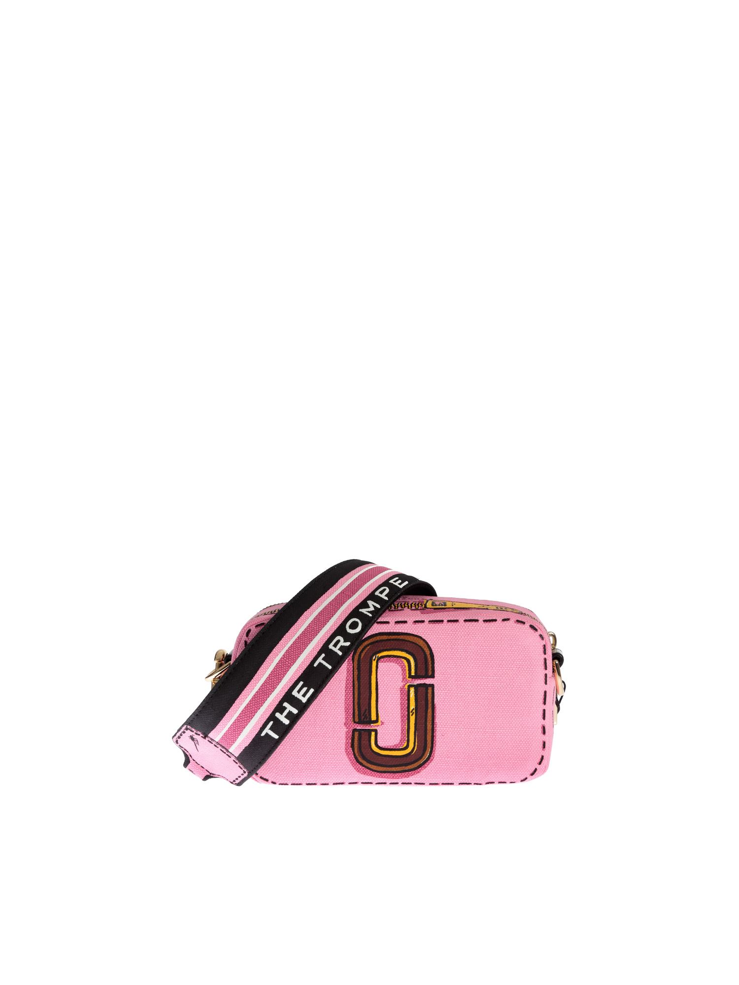 Marc Jacobs THE TROMPE L'OEIL SNAPSHOT BAG IN PINK