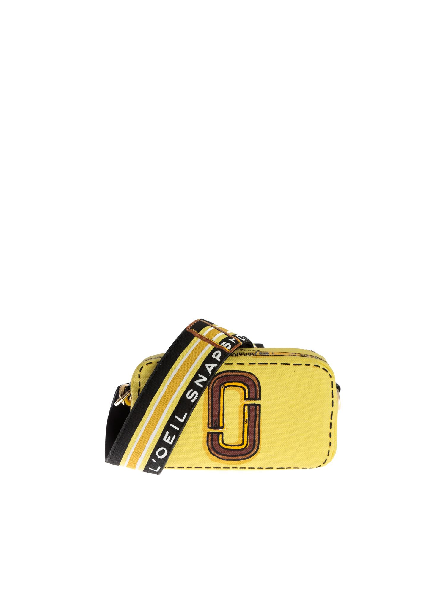 Marc Jacobs THE TROMPE L'OEIL SNAPSHOT BAG IN YELLOW
