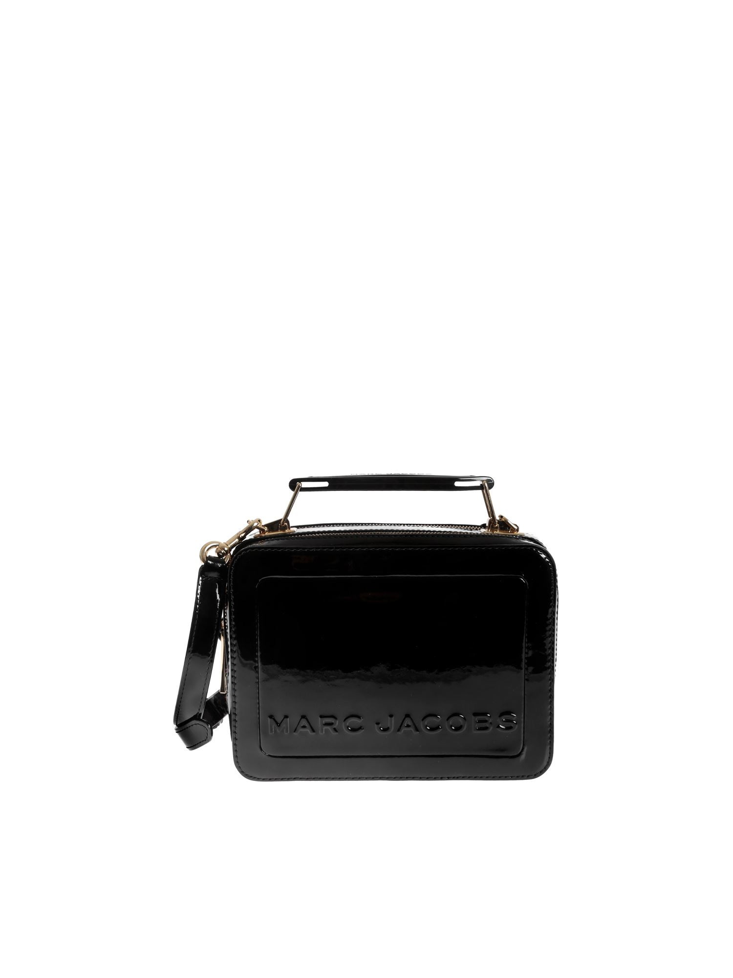Marc Jacobs THE PATENT BOX BAG IN BLACK