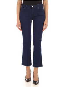 Fay - Raw cut bottom jeans in blue