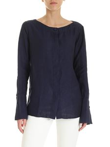 Fay - Linen shirt in dark blue