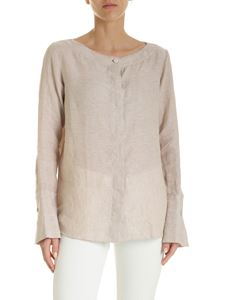 Fay - Linen shirt in sand color