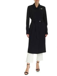 Fay - Fay hook trench coat in blue