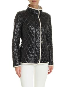Fay - Quilted down jacket in black and ivory