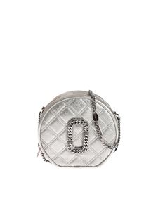 Marc Jacobs  - Borsa The Status Round Crossbody color platino