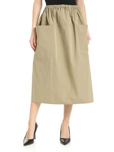 Sofie D'Hoore - Flared skirt in army green cotton