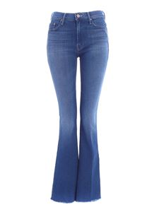 Mother - Flared The Weekender Fray jeans in blue