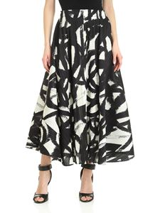 PLEATS PLEASE Issey Miyake - Spin pleated printed skirt in black