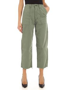 Mother - Patch Pocket Private Ankle Fray trousers in green