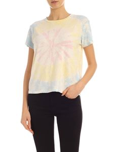 Mother - The Sinful tie dye t-shirt in blue yellow and pink