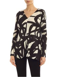 PLEATS PLEASE Issey Miyake - Printed Spin blouse in black
