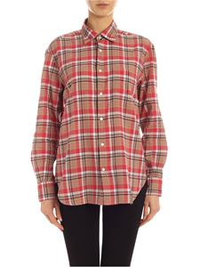 Aspesi - Madras shirt in red and brown