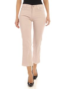 7 For All Mankind - Cropped Boot Unrolled pants in pink