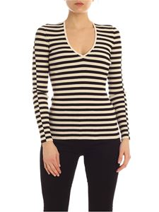 Semicouture - Aubane sweater in beige and black