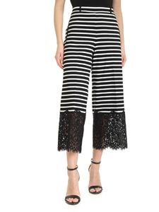 Twin-Set - Striped pants in white and black