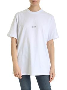 MSGM - T-shirt never look back it's all ahead bianca