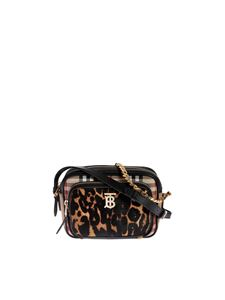 Burberry - Vintage Check and Leopard Print camera bag