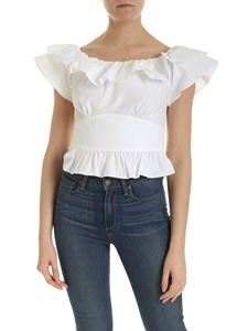 Michael Kors - Off shoulder top in white
