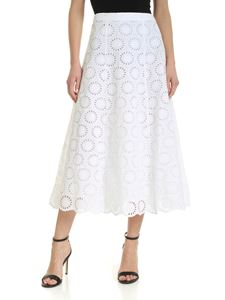 Michael Kors - Sangallo midi skirt in white