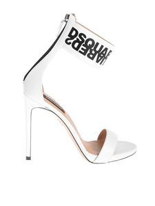 Dsquared2 - Big Mirrored Logo Sandals in white