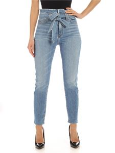 7 For All Mankind - Paperbag jeans in light blue