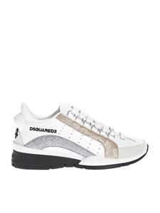 Dsquared2 - Sneakers in white with glitter bands