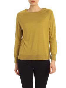 Aspesi - Raglan sleeve pullover in green silk