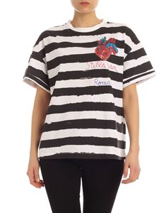 Stella Jean - Striped T-shirt with heart print